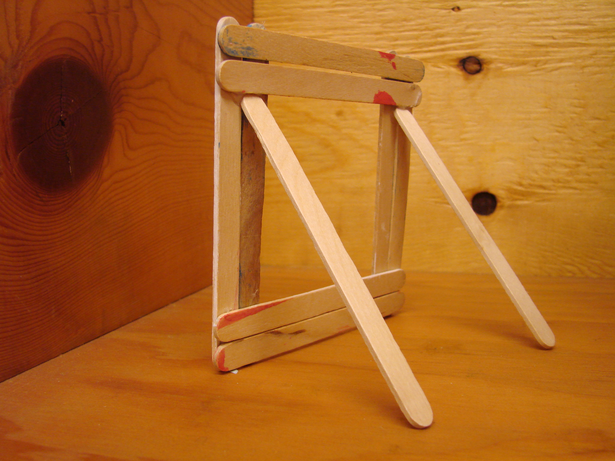Fun kids craft ideas the resort guide rear view of popsicle stick picture frame jeuxipadfo Gallery